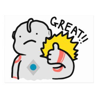 Excelente!! Doodle de Ultraman Cartão Postal