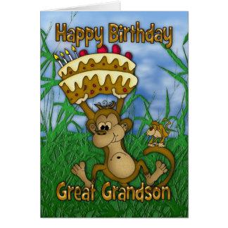 Excelente - feliz aniversario do neto com terra cartão