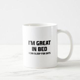 Excelente na cama caneca de café