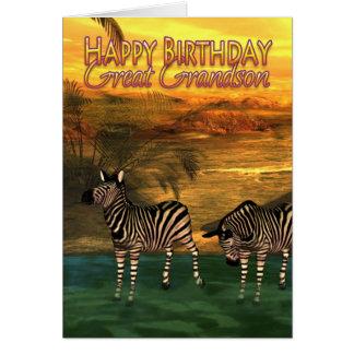 Excelente - zebras do cartão de aniversário do net