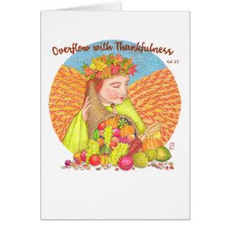 Excesso com o cartão da acção de graças do