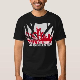 excite o preto 2009 do ~ de Los Angeles do mundo Camiseta