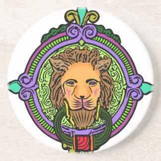 Exclusive da arte do leão porta-copos