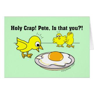 Excremento santamente! Pete, é que você? Cartão Comemorativo