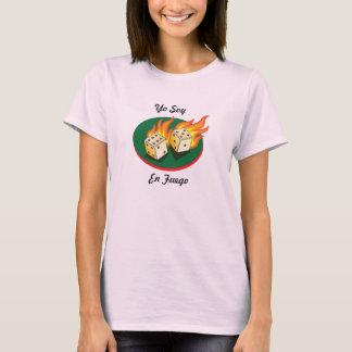 Excrementos e En Fuego da soja de Gambling_Flaming Camiseta