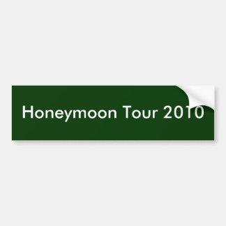 Excursão 2010 da lua de mel adesivo para carro