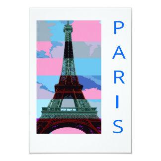 Excursão De Eiffel de Paris Convite 8.89 X 12.7cm