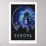 Excursão do Europa - poster retro da arte da Pôster
