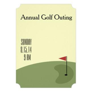 Excursão do golfe - no verde convite personalizados