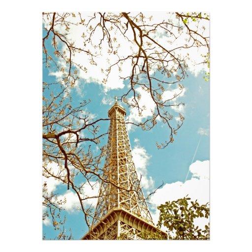 Excursão Eiffel Convites Personalizado