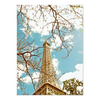 Excursão Eiffel Convite 13.97 X 19.05cm
