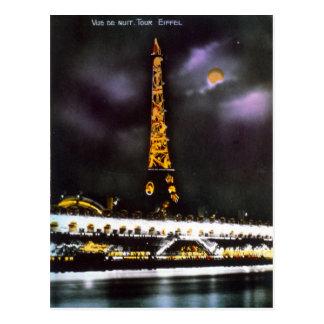 Excursão Eiffel de Paris no cartão da noite
