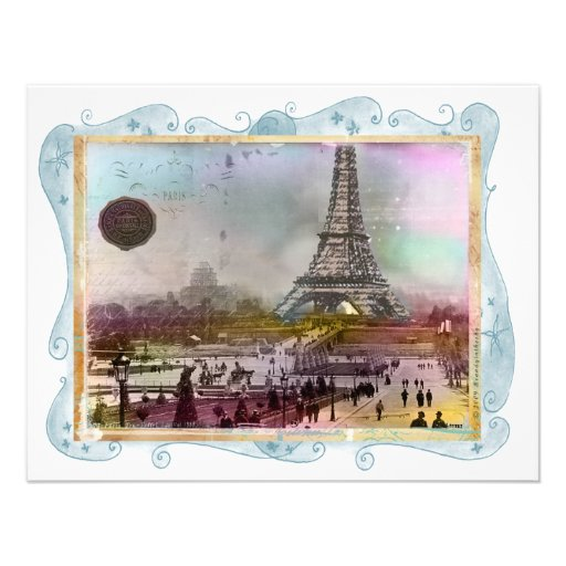 Excursão Eiffel do La Convites Personalizado