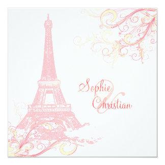 Excursão Eiffel do La de PixDezines + redemoinhos Convite Personalizado