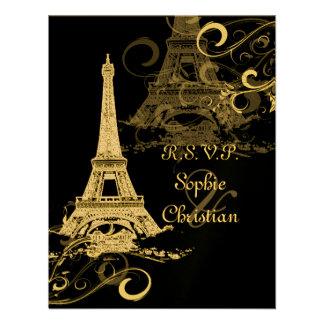 Excursão Eiffel do La de PixDezines+Redemoinhos Convites Personalizado