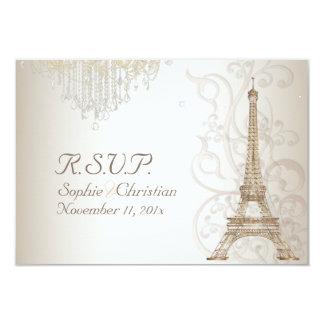 Excursão Eiffel/Paris do la de PixDezines Convite 8.89 X 12.7cm
