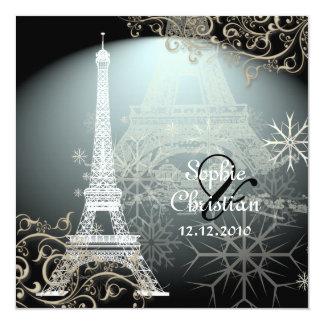 Excursão Eiffel/Paris do la de PixDezines Convite Quadrado 13.35 X 13.35cm