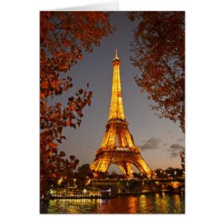 Excursão Eiffel - Paris do La, France - cartão