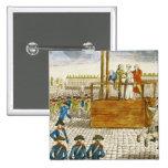 Execução de Marie-Antoinette Bóton Quadrado 5.08cm
