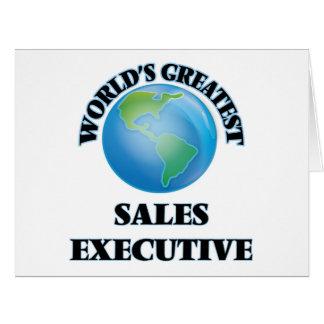 Executivo de vendas do mundo o grande cartões