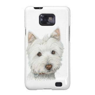 Exemplo bonito da case mate da arte do cão de capinhas personalizadas samsung galaxy SII