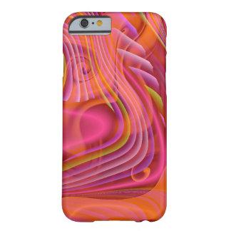 Exemplo cor-de-rosa da arte abstracta capa barely there para iPhone 6