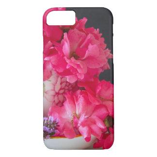Exemplo cor-de-rosa dos Rosas-iPhone 7 do Teacup Capa iPhone 7