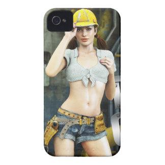 Exemplo corajoso de Lana Blackberry da menina da Capas Para iPhone 4 Case-Mate