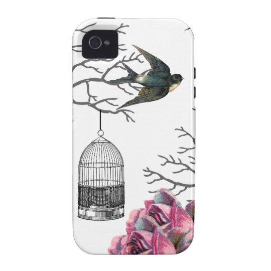 Exemplo da andorinha dos rosas do Birdcage do Capinhas Para iPhone 4/4S