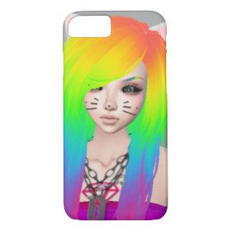 Exemplo da rainha da cena do arco-íris capa iPhone 8/ 7