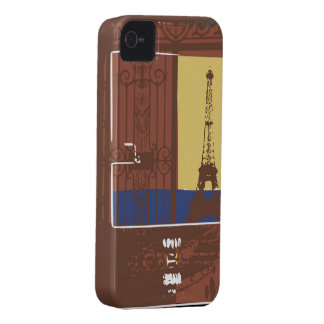 Exemplo de Brown Eiffel Capas Para iPhone 4 Case-Mate
