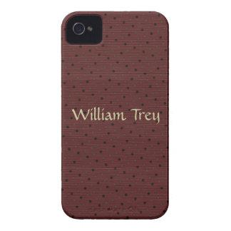 Exemplo de Brown Polkadot Blackberry Capa Para iPhone 4 Case-Mate