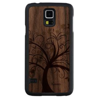 Exemplo de madeira de Samsung S5 da árvore Case De Nogueira Para Galaxy S5