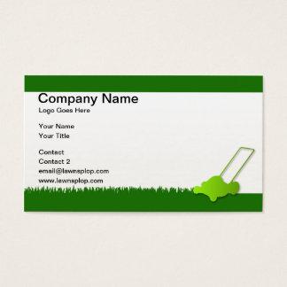 exemplo do cartão de visita do cuidado do gramado