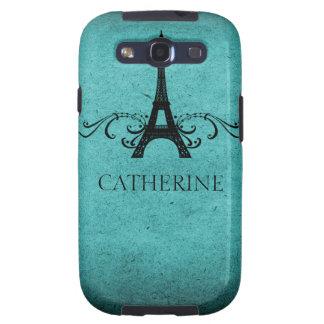 Exemplo do SG 3 do Flourish do francês do vintage, Capa Personalizadas Samsung Galaxy S3
