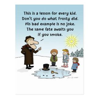 Exemplo mau Frosty - desenhos animados engraçados Cartão Postal