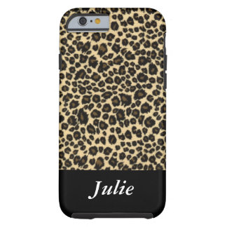 Exemplo Monogrammed animal do leopardo Capa Tough Para iPhone 6
