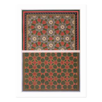 Exemplos de decorações do teto da arte árabe com cartão postal