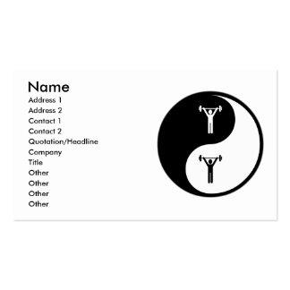 Exercício de Yin Yang Cartão De Visita