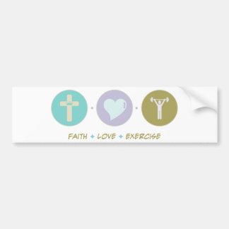 Exercício do amor da fé adesivo para carro