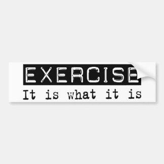 Exercício é adesivo para carro