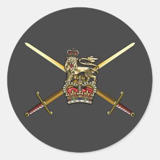 Exército britânico adesivos em formato redondos