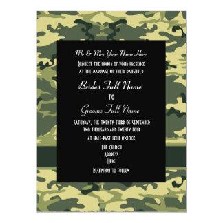 Exército, caça ou casamento militar convite 16.51 x 22.22cm