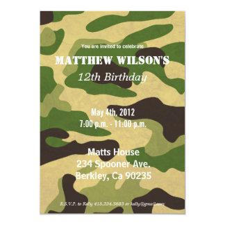 Exército Camoflauge Convite 12.7 X 17.78cm