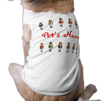 Exército de noz dos soldados do Nutcracker Camisa Sem Mangas Para Cachorro