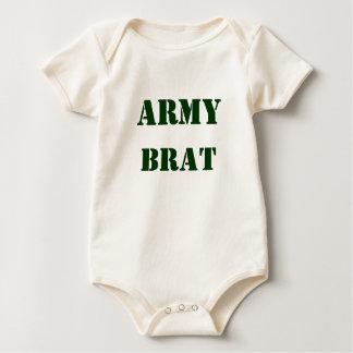 Exército do bebê macacão