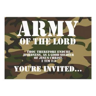 Exército do senhor convites personalizados