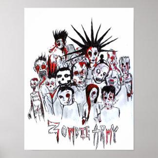 Exército do zombi pôster