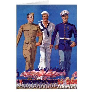 Exército, marinho & fuzileiros navais cartão comemorativo