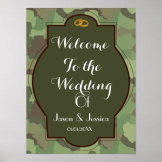 Exército que wedding o impressão temático do